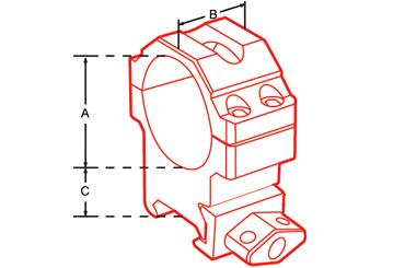 Кольца быстросъемные высокие UTG 30 мм на Picatinny с винтовым зажимом